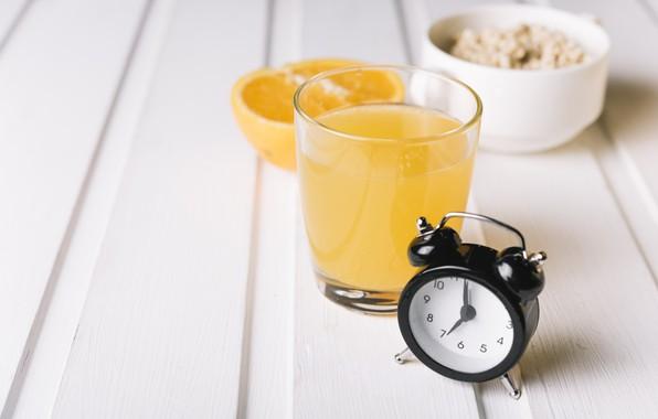 Picture glass, wood, fresh, orange juice