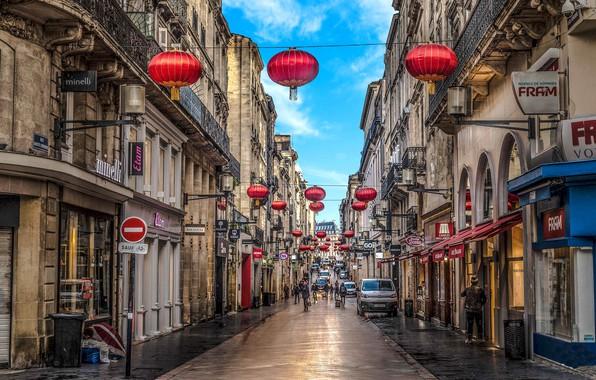 Picture the city, street, France, Bordeaux