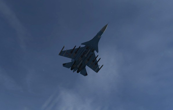 Picture The sky, The game, The plane, fighter, Russia, BBC, Su-30, Sukhoi, Flanker-C, Ace Combat, Multi-role …