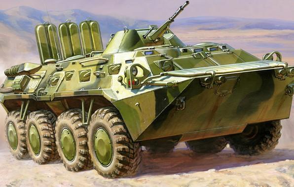 Picture USSR, BTR-80, Andrei Zhirnov, Armored Transporter — 80 model