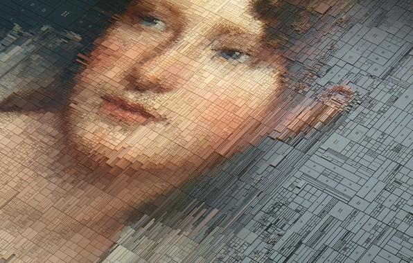 Picture Girl, Portrait, Texture, Art, Graphics, Rendering, Portraits, by Dimitris Ladopoulos, Motion Graphics, Dimitris Ladopoulos