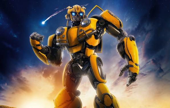 Picture Robot, Eyes, Lights, Yellow, Mechanism, Is, Bumblebee, Bumblebee, Transformer, Bumblebee