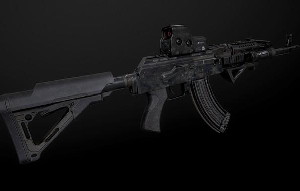 Picture rendering, weapons, gun, weapon, render, custom, Kalashnikov, assault rifle, assault Rifle, Kalashnikov, AKM, akm