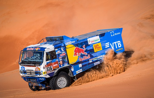 "Picture sand, rally, 2018, KamAZ, 43509, ""The silk road"""