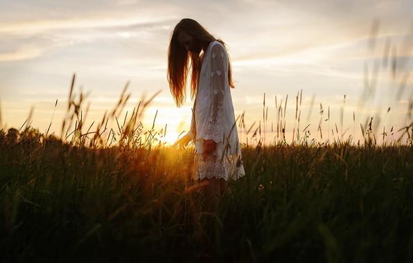 Picture girl, the sun, silhouette, Aleks Five, Elizabeth Malivanova
