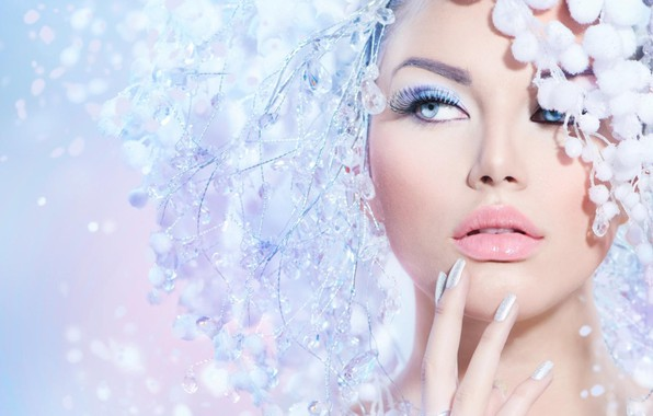 Photo wallpaper girl, style, makeup, decoration
