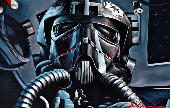 Picture Star Wars, art, pilot, TIE Fighter, Galactic Empire