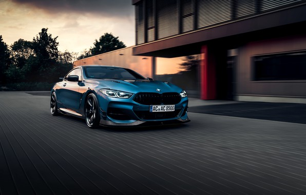 Picture machine, clouds, house, lights, coupe, BMW, AC Schnitzer, G15, M850i, ACS8 5.0i