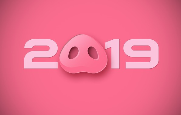 Picture background, pink, New year, 2019