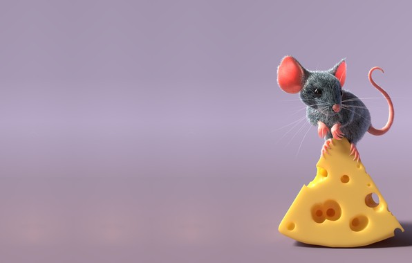 Picture rendering, mouse, children's, freelancer, Sergey Pletnev, mouse and cheese