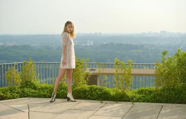 Picture girl, view, legs, beautiful girl, Warren.G., Way up high