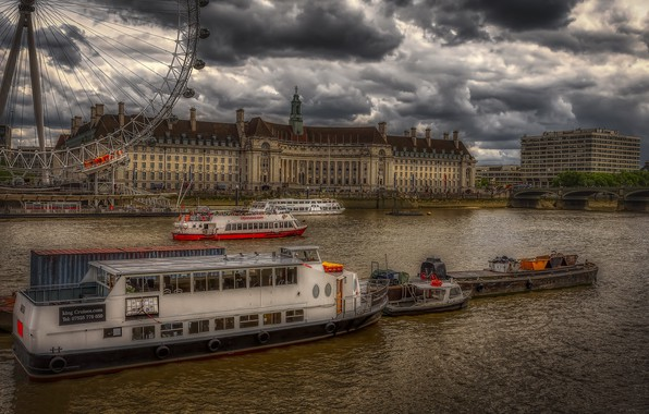Picture England, River Thames, Lambeth, Waterloo