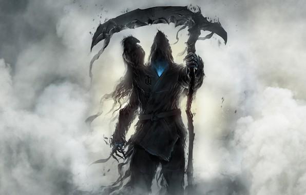 Picture Raven, Smoke, Monster, Braid, Art, Fiction, Illustration, Characters, Reaper, Goksoy Rock Waterfall, CKGoksoy, by Goksoy …