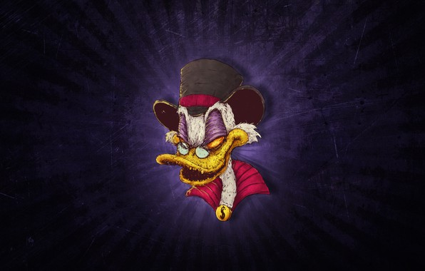 Picture Minimalism, Figure, Background, Art, Helix, Scrooge McDuck, Scrooge McDuck, Scrooge, by Bogdan Timchenko, Bogdan Timchenko, …