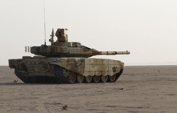 Picture sand, tank, T-90 MS, UVZ, Russian weapons