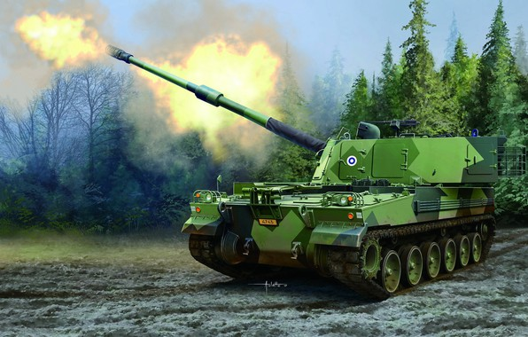 Picture Finland, sau, self-propelled howitzer, Auletta, Finnish Army, Sledgehammer, 155-mm self-propelled artillery, K9FIN