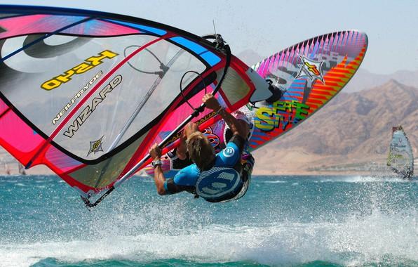 Picture squirt, Windsurfing, windsurfing, splashing, Howard Ashton-Jones