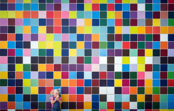 Picture wall, color, girl