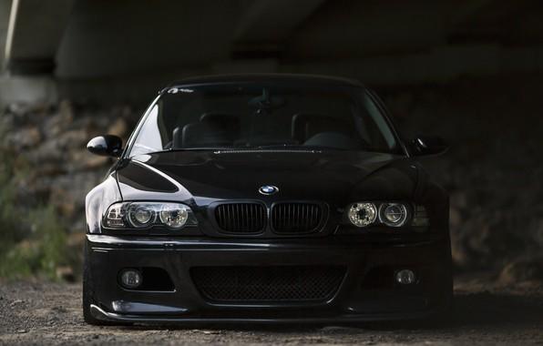 Picture BMW, Bridge, Black, Shadow, E46