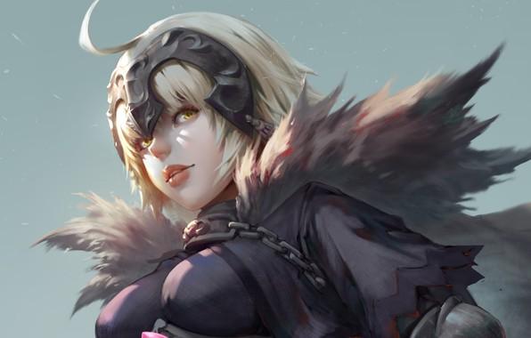 Picture girl, fantasy, anime, blonde, digital art, artwork, warrior, yellow eyes, Avenger, fantasy girl, anime girl, …