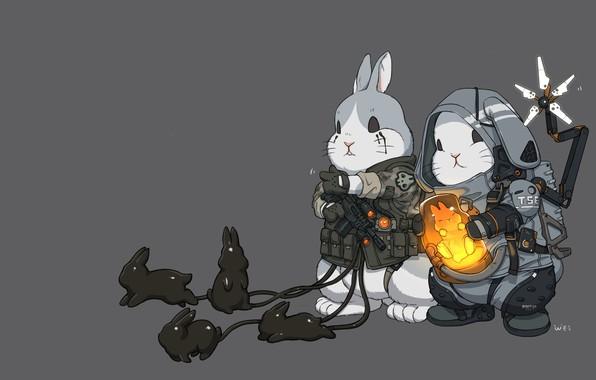 Picture Art, Death Stranding, Bunnies, Comic Art, Ren Wei Pan, Comic art, Baby bunny!