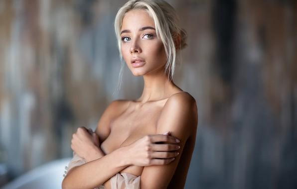 Picture look, girl, face, background, portrait, hands, Katerina Shiryaeva, Anastasia Barmina