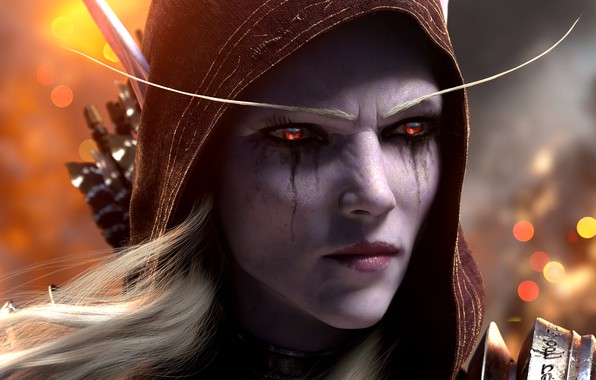 Picture WoW, Warcraft, world of warcarft, WWII, Silvana, Sylvanas Windrunner, world of warcraft legion, the Banshee …