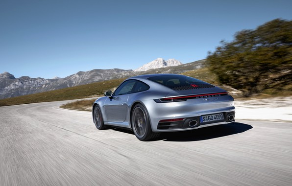 Picture movement, coupe, 911, Porsche, Carrera 4S, 992, 2019