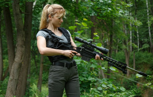 "Picture Girl, Sniper rifle Lobaeva, TSVL-8 ""STALINGRAD"""