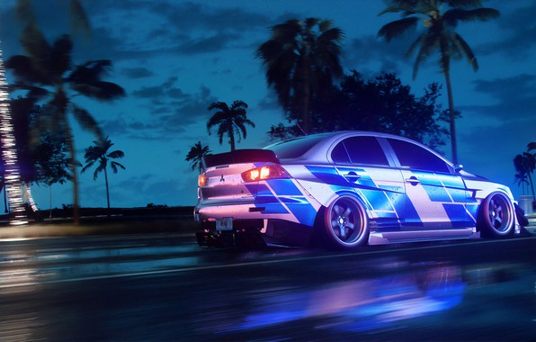 Picture Mitsubishi, Lancer, NFS, Electronic Arts, Need For Speed, 2019, Need For Speed: Heat
