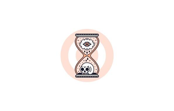 Picture sake, minimalism, eyes, artwork, simple background, targets, Hourglasses