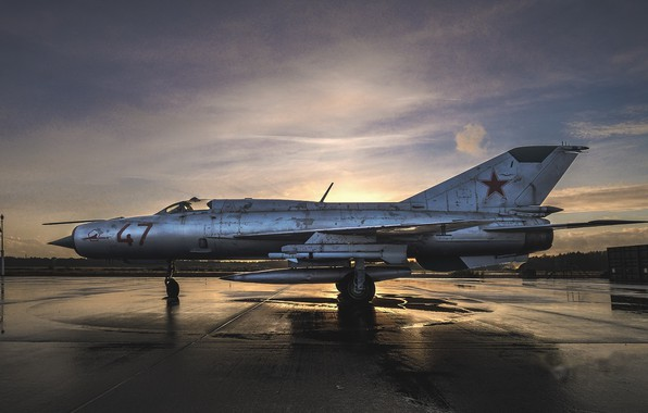 Picture weapons, the plane, MiG 21