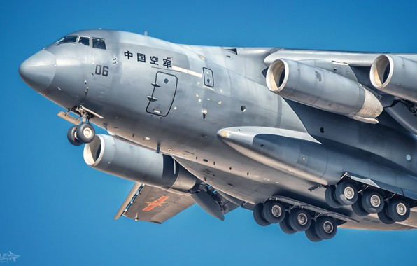 Picture The plane, Engine, Wing, Military transport, Chassis, Xian Y-20, AIR FORCE CHINA, HESJA Air-Art Photography, …