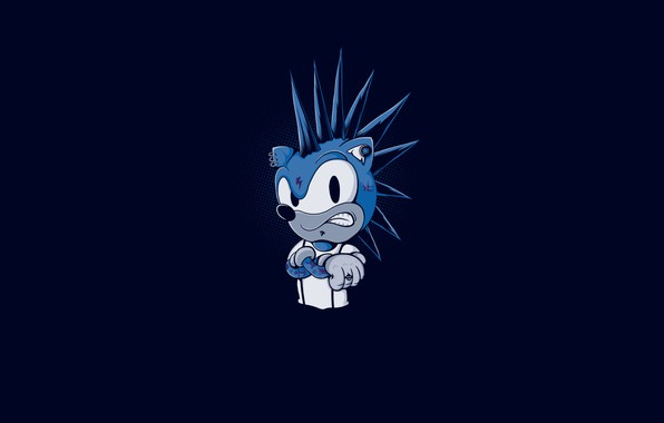 Picture Minimalism, Figure, The game, Sonic, Art, Punk, Sonic, Character