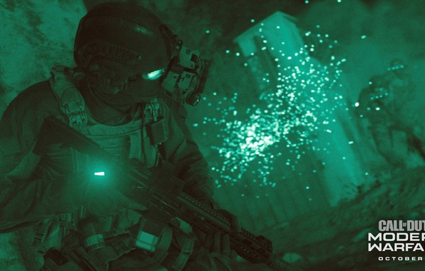 Picture Green, COD, Modern Warfare, Weapon, Soldier, Mask, Armor, Assault, Mission, Call Of DUty, COD 2019