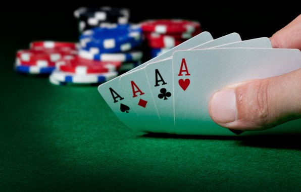 Picture card, casino, 4 aces, rate