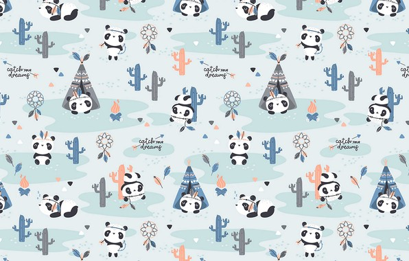 Picture pattern, textures, funny, cute, 4k ultra hd background, pandas