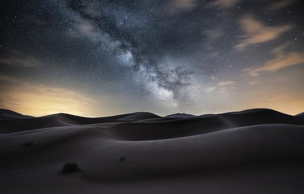 Picture desert, The milky way, desert, milky way