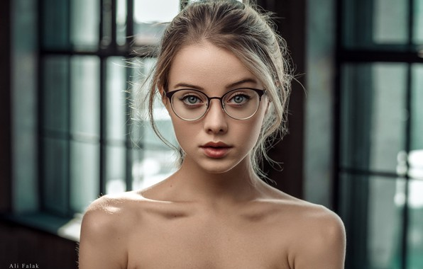Picture look, model, portrait, makeup, glasses, hairstyle, blonde, beauty, bokeh, Maria, Falak Ali