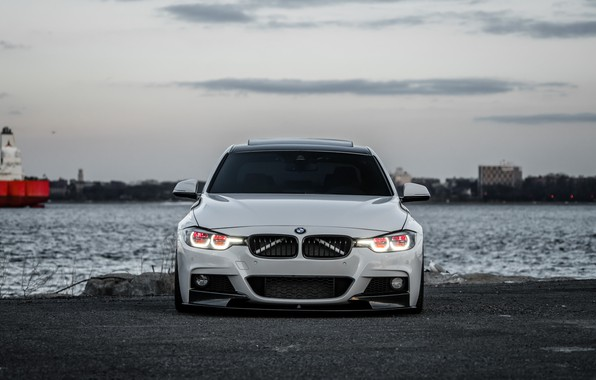 Picture BMW, Sky, White, Evening, 330i, F80, Sight