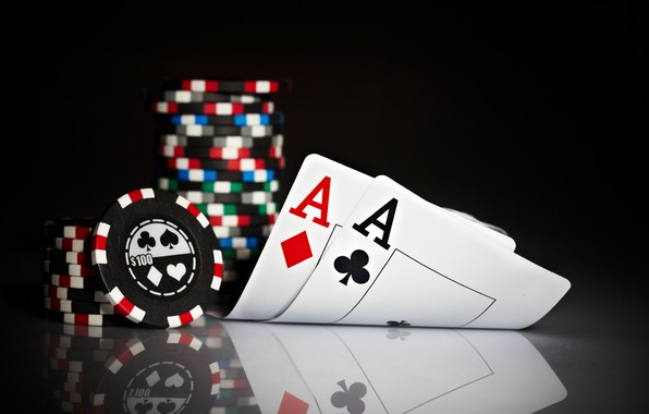Picture card, chips, aces