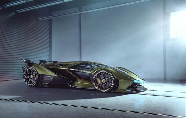 Picture Lamborghini, Headlight, The concept car, Lambo, Drives, V12, Brake disc, Wing, Vision Gran Turismo, 2019, …