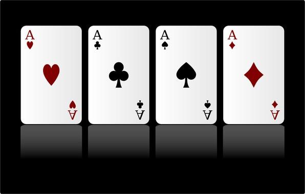 Picture card, suit, 4 aces