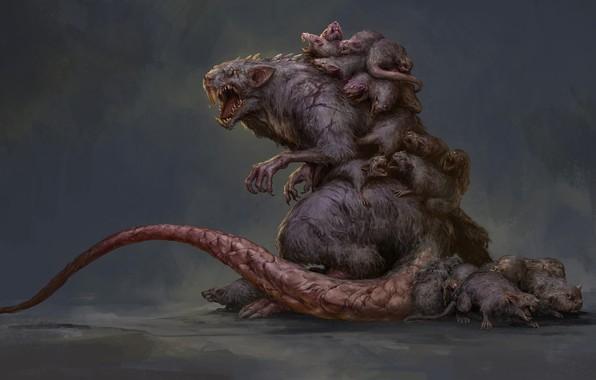 Picture Monster, Rat Creature, Russell Dongjun Lu, Fantasy creature, Baby Rat