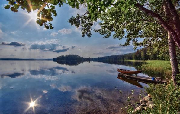 Picture summer, lake, Finland, Kari lake