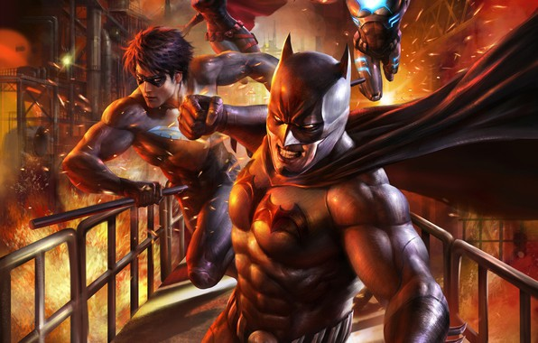 Picture Batman, factory, Batwoman, Nightwing, Bad Blood, DC Animated Universe, Batwing