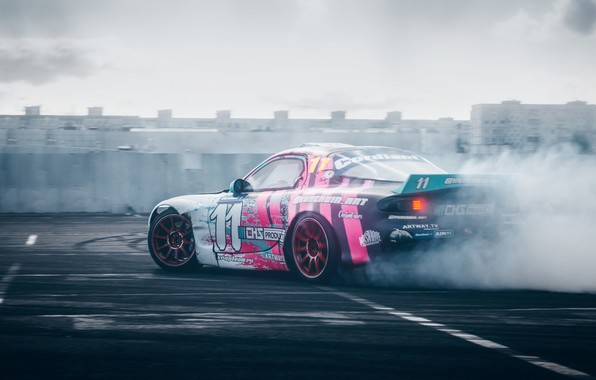 Picture smoke, drift, Mazda, drift, RX-7, 2019, by RaY29rus