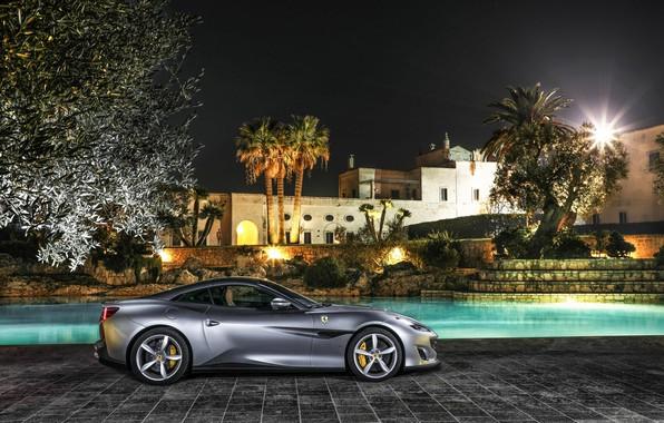 Photo wallpaper Ferrari, mansion, Portofino
