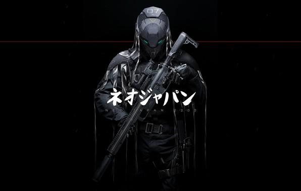 Picture Weapons, Art, Art, Fiction, Sniper, Concept Art, JAPAN, Johnson Ting, Cyberpunk, Phantoms, NEO JAPAN 2202, …