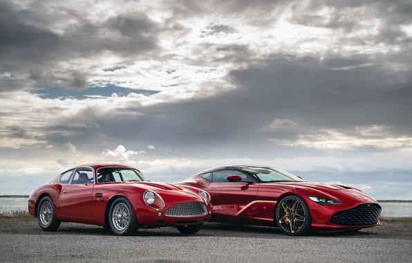 Picture clouds, Aston Martin, red, Zagato, 2020, DB4 GT Zagato Continuation, DBS GT Zagato
